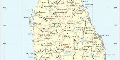 Karta Och Avstand.Sri Lanka Ceylon Map Kartor Sri Lanka Ceylon Sodra Asien Asien